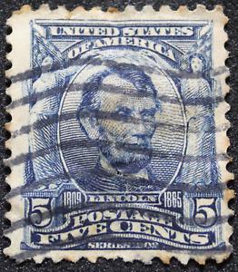 Stamp 5 Cent Lincoln 1903 USA Scott 304 - Stamp United States Of America