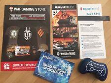 Wargaming Paysafe Card 5 € Gamescom Package World of Tanks WOT world of Warship