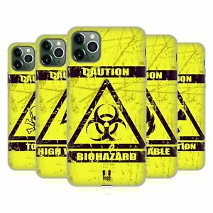 HEAD CASE DESIGNS HAZARD SYMBOLS GEL CASE & WALLPAPER FOR APPLE iPHONE PHONES