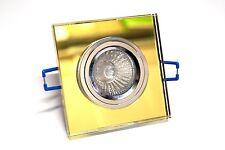 CROMPTON K9 Mirror Glass Downlight 12V 50W - Square Gold