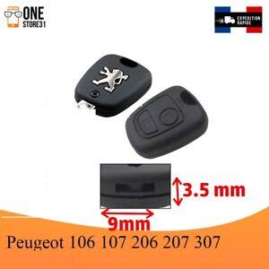 Boîtier Coque télécommande clé plip pour Peugeot 106 107 206 207 307 9mmx3.5