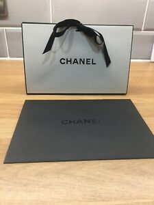 CHANEL Origami Gift Box & Black Envelope Mint Condition