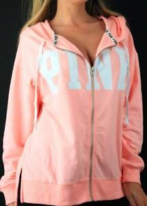 Victoria's Secret PINK Boxy Full Zip Hoodie Logo Oversize Sweatshirt