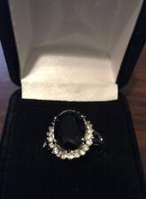 """Majestic Princess"" Silvertone Ring by AVON ~ Size 11 ~ Blue Stone ~ NWB"