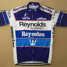 Reynolds Cycling Jersey Retro Road Pro Clothing MTB Short Sleeve Bike Racing