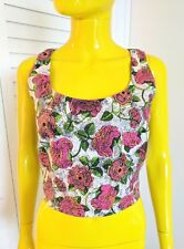 TOP SHOP Floral Crop Top Size 8 NWT Retail $58!!