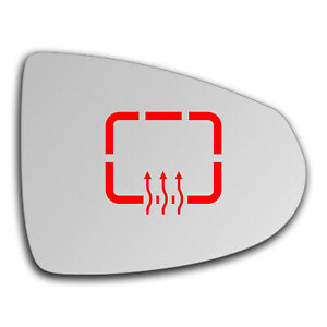 Right Side Clip On Heated Mirror Glass for Vauxhall Ampera 2011 - 2019 0566RSHP