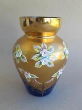 ältere italienische wohl Murano Glasvase Blumendekoration golddekoriert