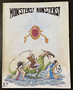 RARE MONSTERS MONSTERS A FANTASY GAME 1976 FIRST EDITION. (222)