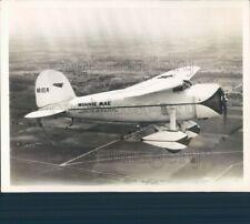 1933 Press Photo Wiley Post's Winnie Mae Plane in Flight