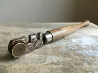 Vintage Wooden Glass Cutter Tool Farmhouse Barn Salvage Patina Waxed