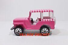 2003 Matchbox Elvis Favorite Cars 1960 Jeep® Surrey PINK/SAWBLADE WHEEL/MINT