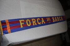 BUFANDA DE FUTBOL DEL F.C BARCELONA DE RASO FORCA BARCA COTIZADA ESCASA  SCARF c9f946745be