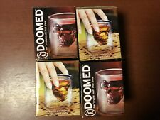 The Crystal Skull Shot Glass- Doom By Fred Lot Of 4