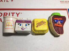 VTG McDonalds Happy Meal Toys 4 McDino Changables Food Dinosaur Transformers
