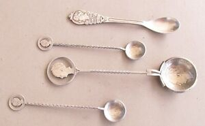 5 ANTIQUE SILVER SOUVENIR SPOONS FOR WILHELMINA OF THE NETHERLANDS - MUST SEE !!