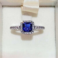 100% 925 Sterling silver Timeless Elegance Ring,Blue Clear CZ Size 5 6 7 7.5 8.5