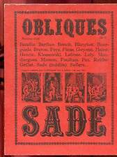 OBLIQUES N°12-13. SADE. EDITIONS BORDERIE. 1979.