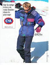 Publicité advertising 118  1994    vetements ski anoirak  C& A