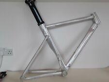 Alloy Time Trial Frame 54.5 Raw finish with Carbon aero seat post -  Price cut