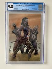 Walking Dead 15th Anniversary #19 VIRGIN Variant CGC 9.8 Michonne White Pages