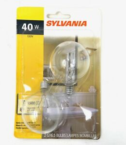 SYLVANIA 40G16.5C/BL 120V 2 PACK