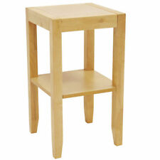 Mesas auxiliares de madera maciza