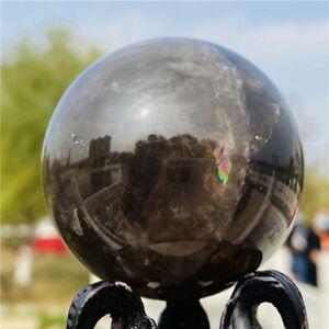 230G Natural tea black Quartz Crystal Sphere Crystal Ball piont Healing