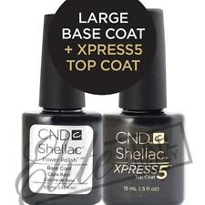 CND SHELLAC Base Coat 12.5ml + XPRESS5 Top Coat 15ml  + FREE CND Remover Wraps