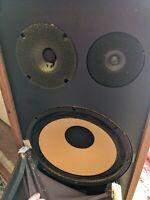 1 only Speaker Cabinet Advent Model 12 Rare vtg Heavy Wood Tested Working