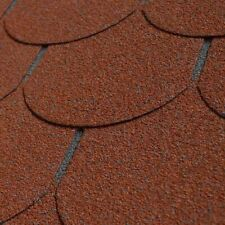 3 m² Bitumen Dachschindeln rot HOBBY Rechteck Dacheindeckung Gartenhaus