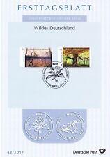 BRD 2017: Meckl. Seenplatte und Reinhardswald! Ersttagsblatt Nr 3341+3342! 1801