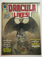 Dracula Lives #1 Origin of Dracula 1st Appearance of Lianda 1973 Marvel Magazine
