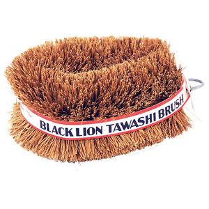 Set of 2 Black Lion Tawashi Vegetable Cleaning Scrubbing Brush, Made in Japan