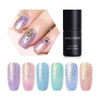 6ml NICOLE DIARY Nail Soak Off UV Gel Polish Pearl Mermaid Holographic Varnish