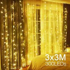 LED Lichtervorhang Lichterkette Licht Weihnachtsbeleuchtung Fenster Deko Party