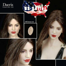1/6 Fairy Elf Female Head Brown Detachable Ears PALE For PHICEN Hot Toys ❶USA❶