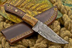 CUSTOM HANDMAD DAMASCUS STEEL SKINNING KNIFE (F-978)