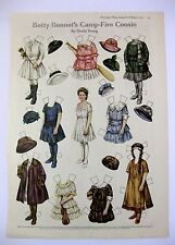 Vintage February 1917 Betty Bonnets Camp Fire Cousin Paper Doll Magazine Page B