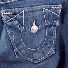 True Religion Becky Jeans Women's Sz 28 x 30 Low Rise Boot Cut Dark Wash Cotton