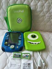 Leapfrog Leappad 2 Tablet Monster Universe edition Case 2 games Disney