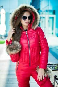 Women Warm Winter Jumpsuit Ski Snow Suit Outdoor Sport Overall Mittens BN