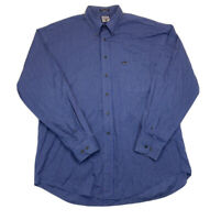 Faconnable Blue Striped Button Down Long Sleeve Mens XL
