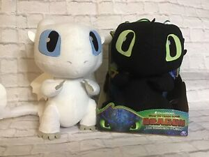 """How to Train Your Dragon 3 The Hidden World Squeeze Growl Lot Of 2 10"""" Plush"""