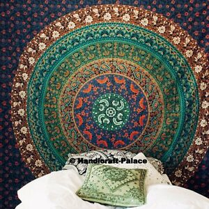 Indien Ethnic Floral Mandala Home Decor Wall Hanging Tapestry Bohemian Bedspread