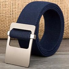 Mens Womens Smooth Buckle Canvas Belt Comes In Many Colors