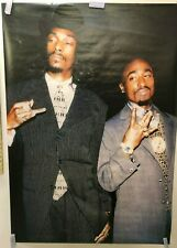 HUGE SUBWAY POSTER Tupac and Snoop Dog 90's Hip-Hop Royalty Gin & Juice NOS