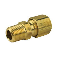 """1/4"""" x 1/8"""" Compression x Male NPT Adapter Pipe Fitting Tube Connector Ferrule"""