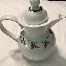 DANSK ROSEBUD ROSE TEAPOT TEA POT FRANSK COLLECTION JAPAN 1990 - 1993 Rare VTG