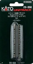"KATO N SCALE UNITRACK EXPANSION TRACK 78-108mm 3""-4 1/4"" (1 pc) NEW 20-050"